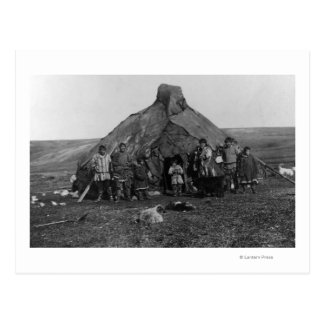Eskimo Igloo Near Nome, Alaska Photograph Postcard