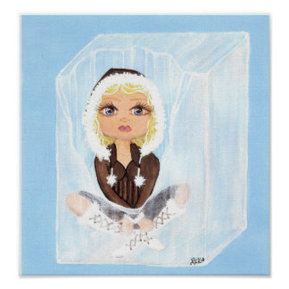 Eskimo in Ice Quantum Cutie Poster