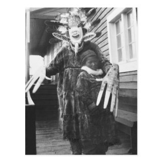 Eskimo Medicine Man, early 1900s Postcard