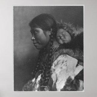 Eskimo Mother & Child Poster