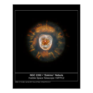 Eskimo Nebula 2392 Hubble Telescope Posters