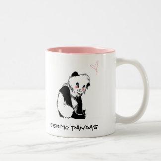 Eskimo Pandas Two-Tone Coffee Mug