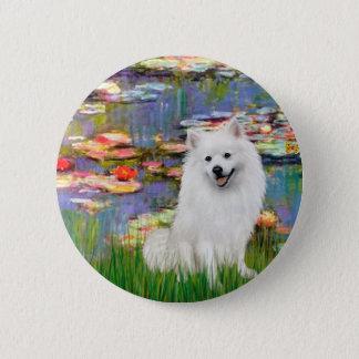 Eskimo Spitz 1 - Lilies 2 2 Inch Round Button