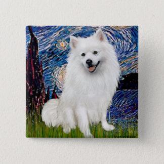 Eskimo Spitz 1 - Starry Night (Vert) 2 Inch Square Button