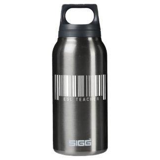 ESL Teacher Barcode Insulated Water Bottle