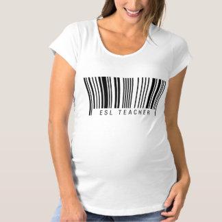 ESL Teacher Barcode Maternity T-Shirt