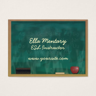 ESL Teacher Custom Business Card