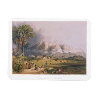 Esmeralda, on the Orinoco, site of a Spanish Missi Rectangular Photo Magnet