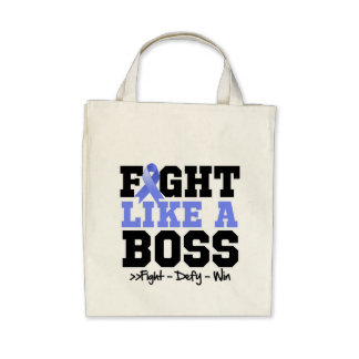 Esophageal Cancer Fight Like a Boss Canvas Bag