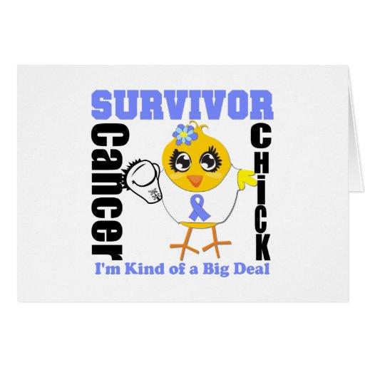 Esophageal Cancer Survivor Chick Ribbon Greeting Card