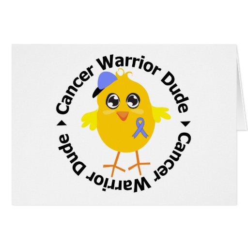 Esophageal Cancer Warrior Dude Greeting Card