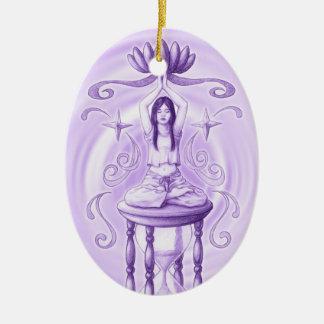 Esoteric Ceramic Oval Ornament