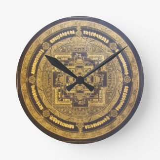 ESOTERIC MANDALA WALL CLOCK DESIGN