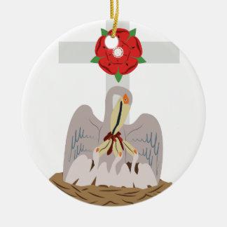 Esoteric Pelican Round Ceramic Ornament