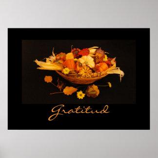 Espagnol : Thanksgiving de Gratitud Poster