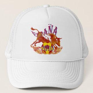 España 2010 Grunge Toro soccer ball gifts Trucker Hat