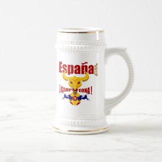 España 2012 Campeona Jarro de Cerveza Spain Bull Beer Stein