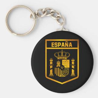 España Emblem Basic Round Button Keychain