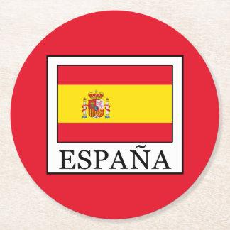 España Round Paper Coaster