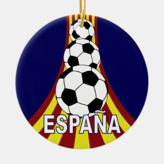 Espana Spain Soccer Fútbol Ceramic Ornament