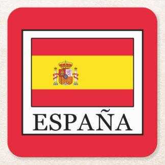España Square Paper Coaster