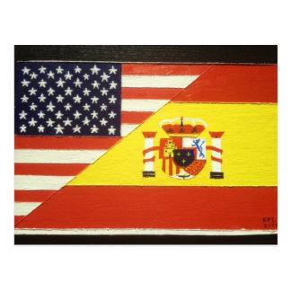 España y Estados Unidos Postcard