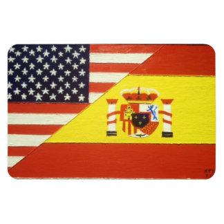 Espana y Los Estados Unidos Magnet