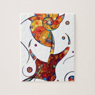 Espanessua - imaginery spiral flower jigsaw puzzle