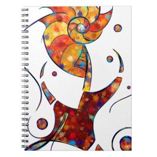 Espanessua - imaginery spiral flower notebook