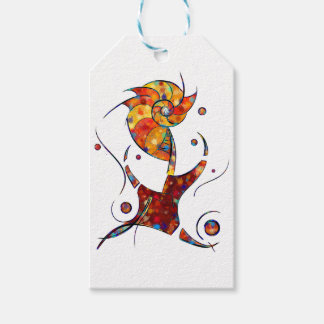 Espanessua - imaginery spiral flower pack of gift tags