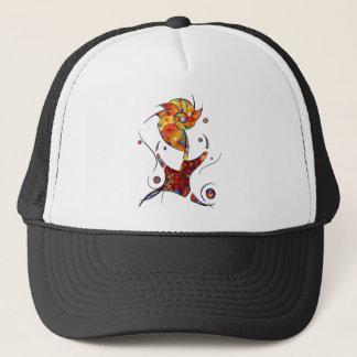 Espanessua - imaginery spiral flower trucker hat