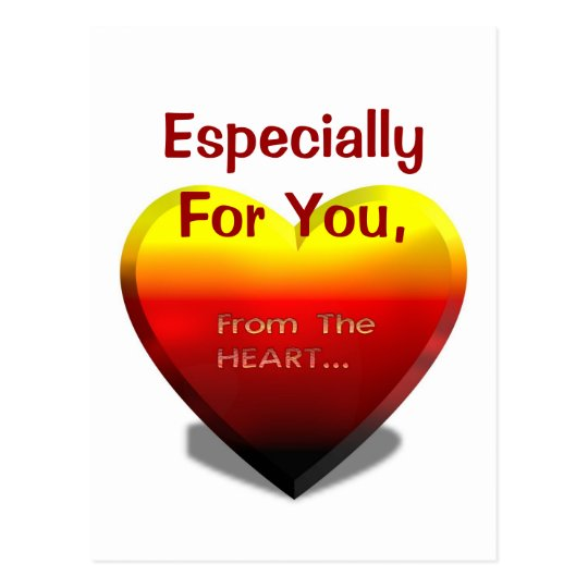 Especially For You From the Heart, postcard