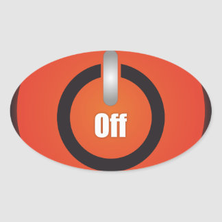 Esperanissa - switch off oval sticker