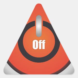 Esperanissa - switch off triangle sticker