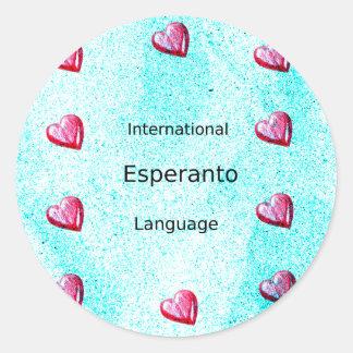 Esperanto International Language Design Classic Round Sticker