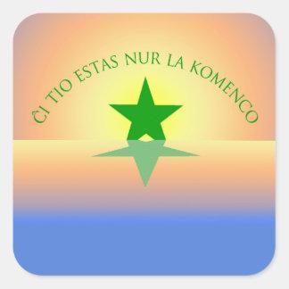 Esperanto: Just the Beginning Square Stickers
