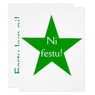 Esperanto: Ni festu! Card
