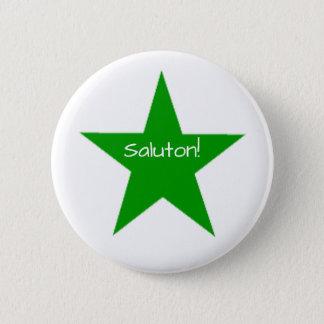 Esperanto: Saluton 2 Inch Round Button