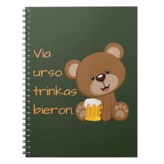 Esperanto: Via urso trinkas bieron. Notebook