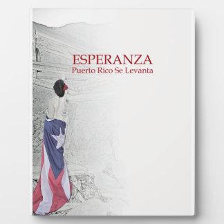 Esperanza - image with text plaque