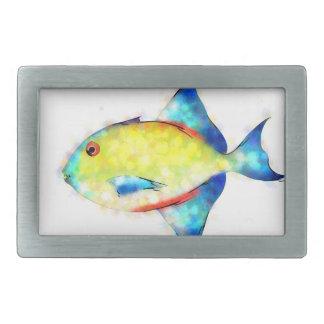 Esperimentoza - gorgeous fish rectangular belt buckle