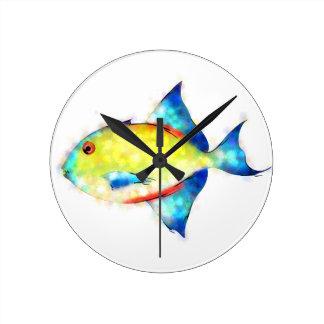 Esperimentoza - gorgeous fish round clock
