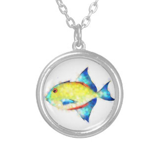 Esperimentoza - gorgeous fish silver plated necklace