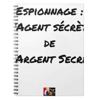 ESPIONAGE: THE AGENT SECRETES SECRET MONEY NOTEBOOKS
