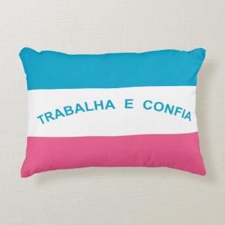Espírito Santo, Brazilian state flag Decorative Pillow