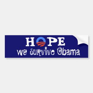 Espoir nous survivons à Obama Autocollant De Voiture