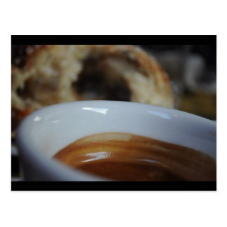 Espresso and Cinnamon-roll Postcard