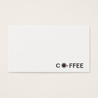 espresso coffee in cup business card