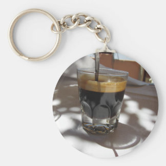 Espresso coffee with rum, sugar and lemon rind basic round button keychain