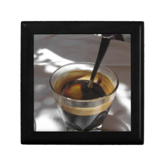 Espresso coffee with rum, sugar and lemon rind gift box